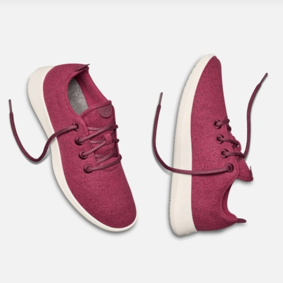 AllBirds Womens Wool Runners Light Pink W// Cream Sole Size 6